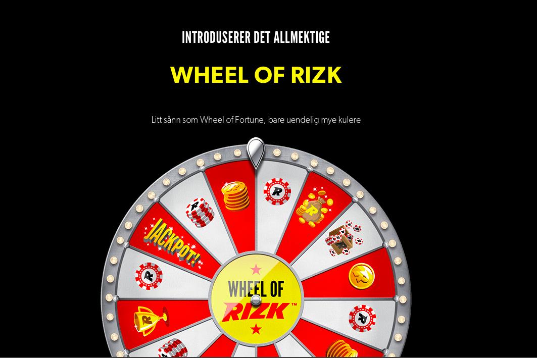 Rizk.com progressiv jackpottvinnare av Wheel of Rizk