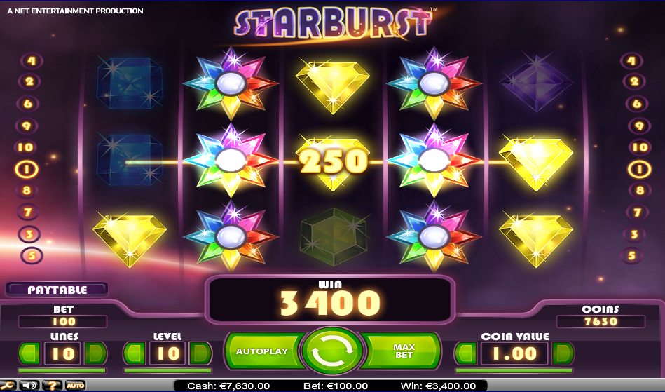 slot starburst big win