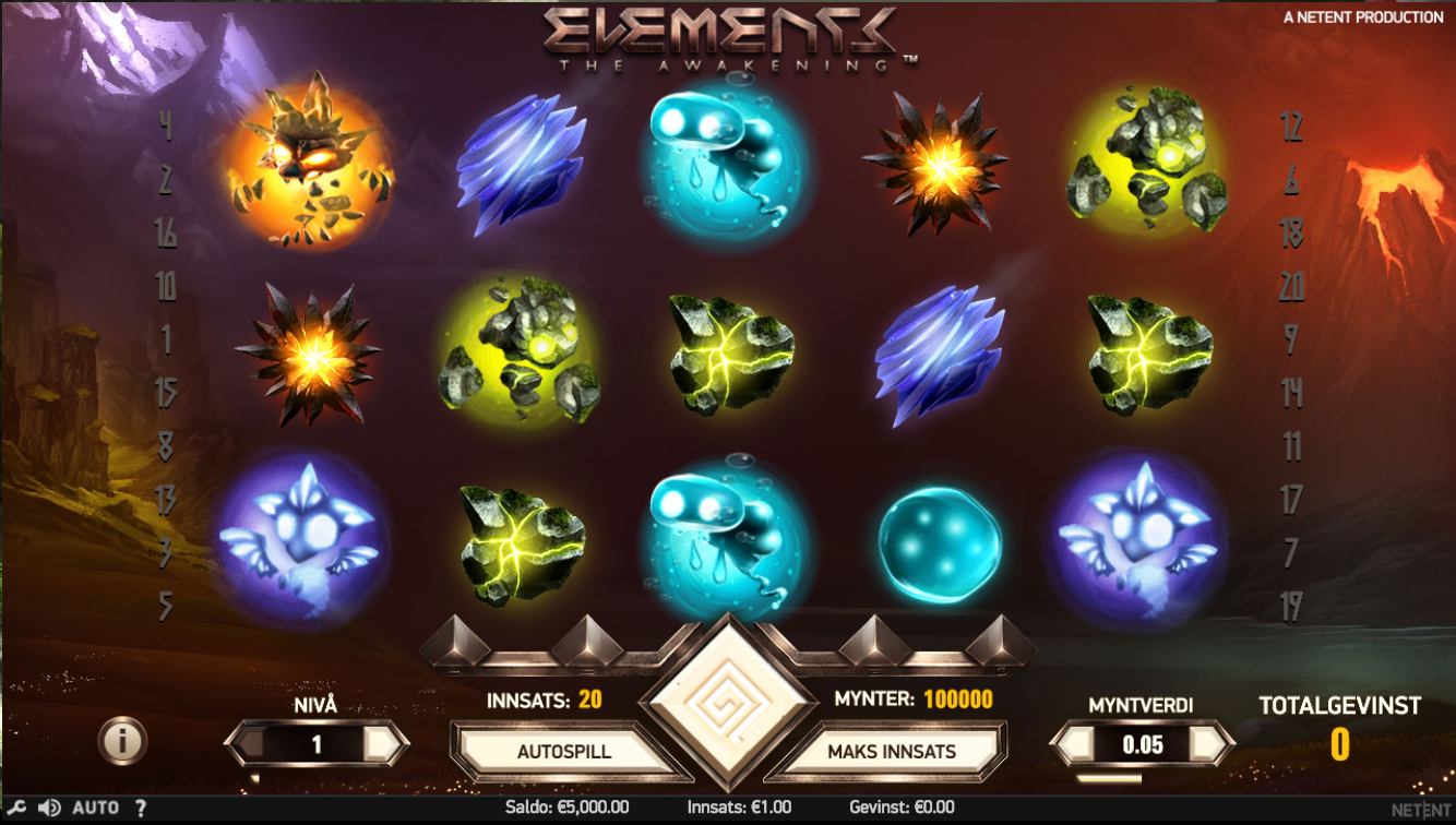 elements the awakening slotmaskiner